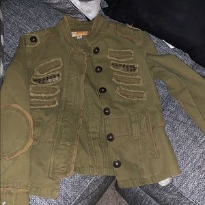 Tulle Jackets & Coats - Green army inspired jacket